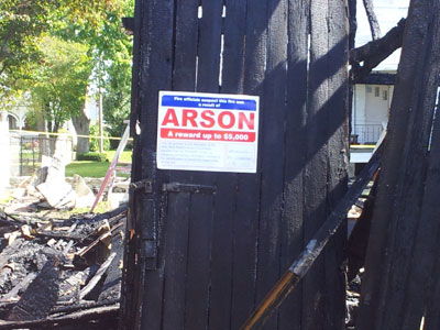 Greenville Arson Fires